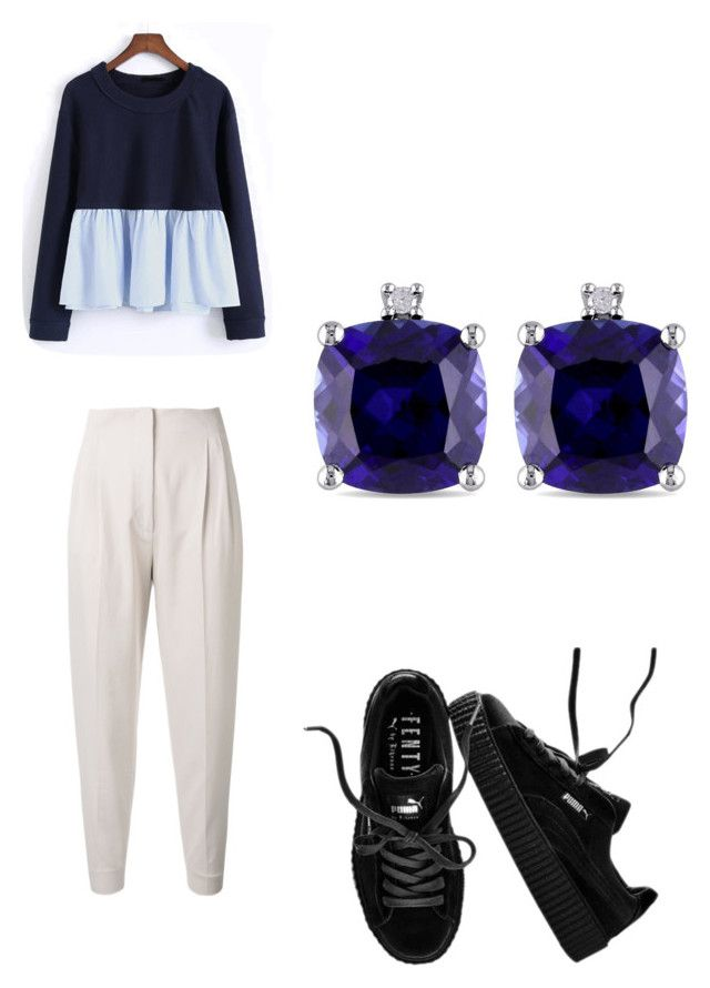 """""""Untitled #76"""" by anais-maria on Polyvore featuring MaxMara, WithChic, Puma and Miadora"""