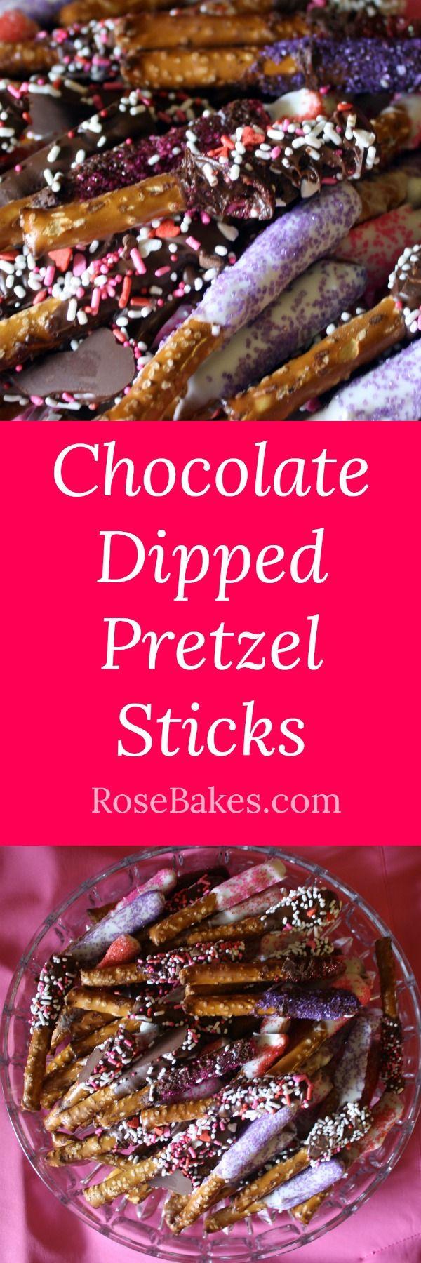 Easy Chocolate Dipped Pretzel Sticks