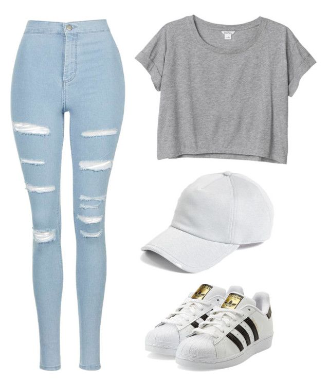 """✨"" by ttaylxr ❤ liked on Polyvore featuring Monki, Topshop, adidas Originals and rag & bone"