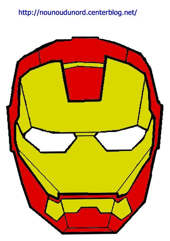 masque iron man d'autres modèles à imprimer cliquez sur mon lien http://nounoudunord.centerblog.net/4209-masques-a-imprimer-classes-par-ordre-alphabetique