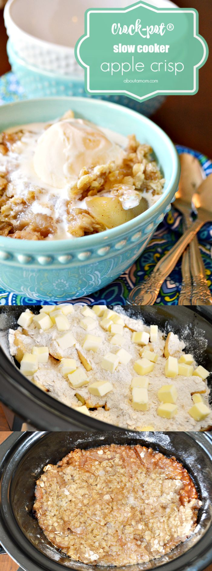 Slow Cooker Apple Crisp is a warm and comforting fall dessert that is easy to prepare. This Crock Pot dessert is exactly the type of recipe you want on a chilly fall day.