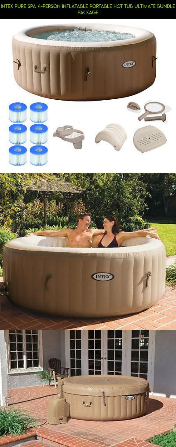 Intex Pure Spa 4-Person Inflatable Portable Hot Tub Ultimate Bundle Package #drone #hot #tech #gadgets #shopping #fpv #parts #tubs #intex #racing #products #plans #camera #technology #kit