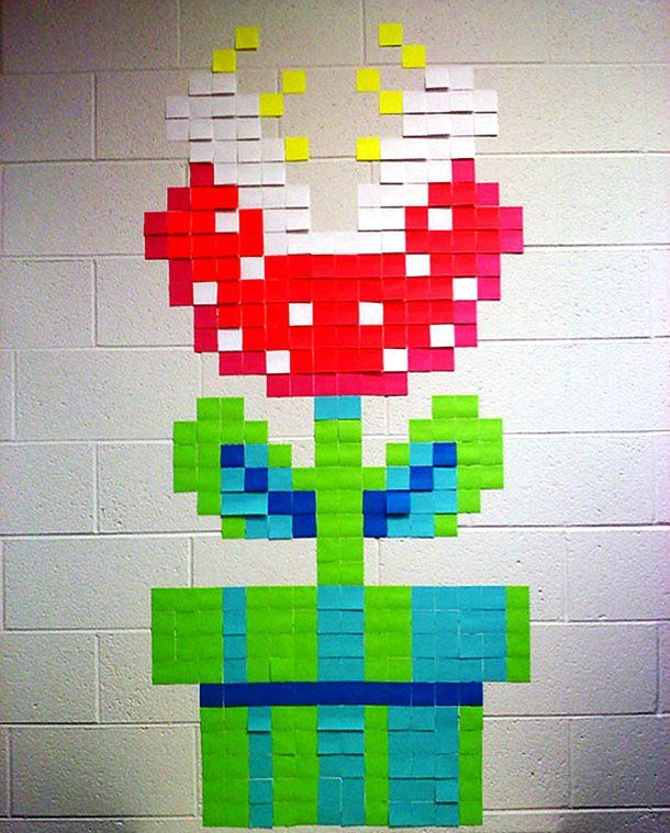 Art - Check Out The Amazing Post-It Note Office Art...