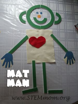 Mat Man from Handwriting without tears: STEM mom shows how to make the large letter pieces out of foam board