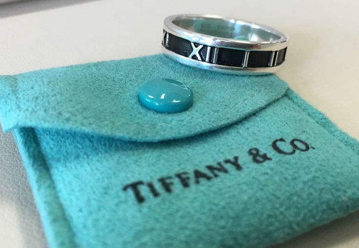 Sterling Silver - 1995 Tiffany & Co. Atlas Roman Numerals - Ring Size (12) Mens #TiffanyCo