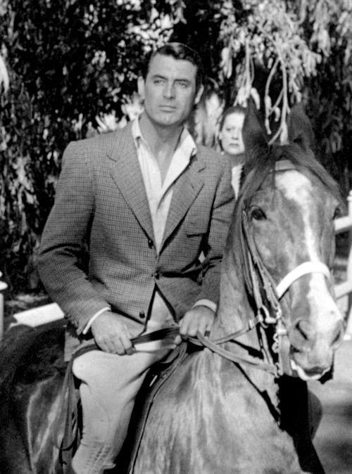 Cary Grant & a horse. It can't get better than this....