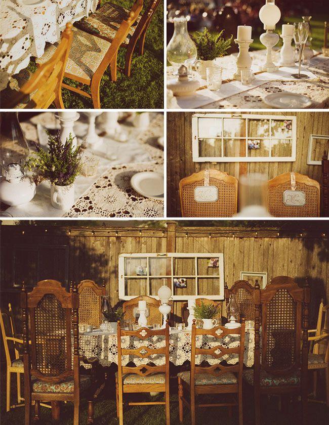 113 best garden weddings images on pinterest backyard for Outdoor vintage wedding decoration ideas