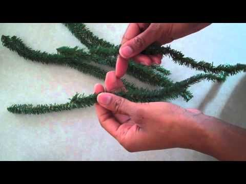 How To Make A Doll Christmas Tree With Pipe Cleaners