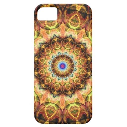 Ochre Burned Glass kaleidoscope iPhone 5 Cases