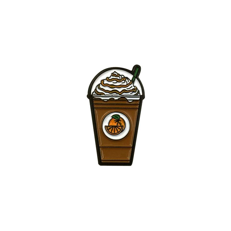 Orange Mocha Frappuccino pin inspired by Zoolander.