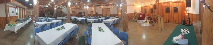 Hall set up for a Christmas Event