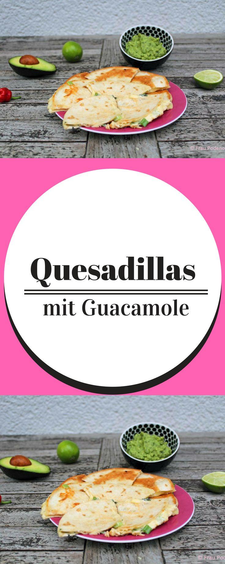 Quesadillas sind mit Käse gefüllte Tortillas, ein mexikanischer …   – Mexikanisch vegetarisch