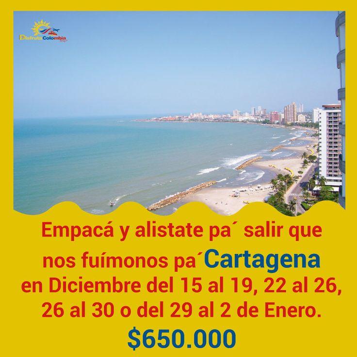 #disfrutacolombia te lleva a veraniar #andayreserva tu viaje que nos vamos pa' Cartagena