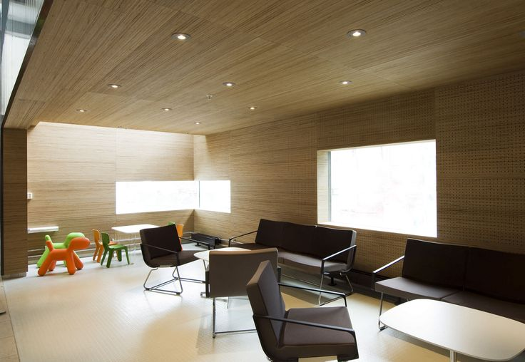 Interior organization decorative panel / wood / textured ST. OLAV HOSPITAL by NSW Arkitekter & Planleggere Plexwood