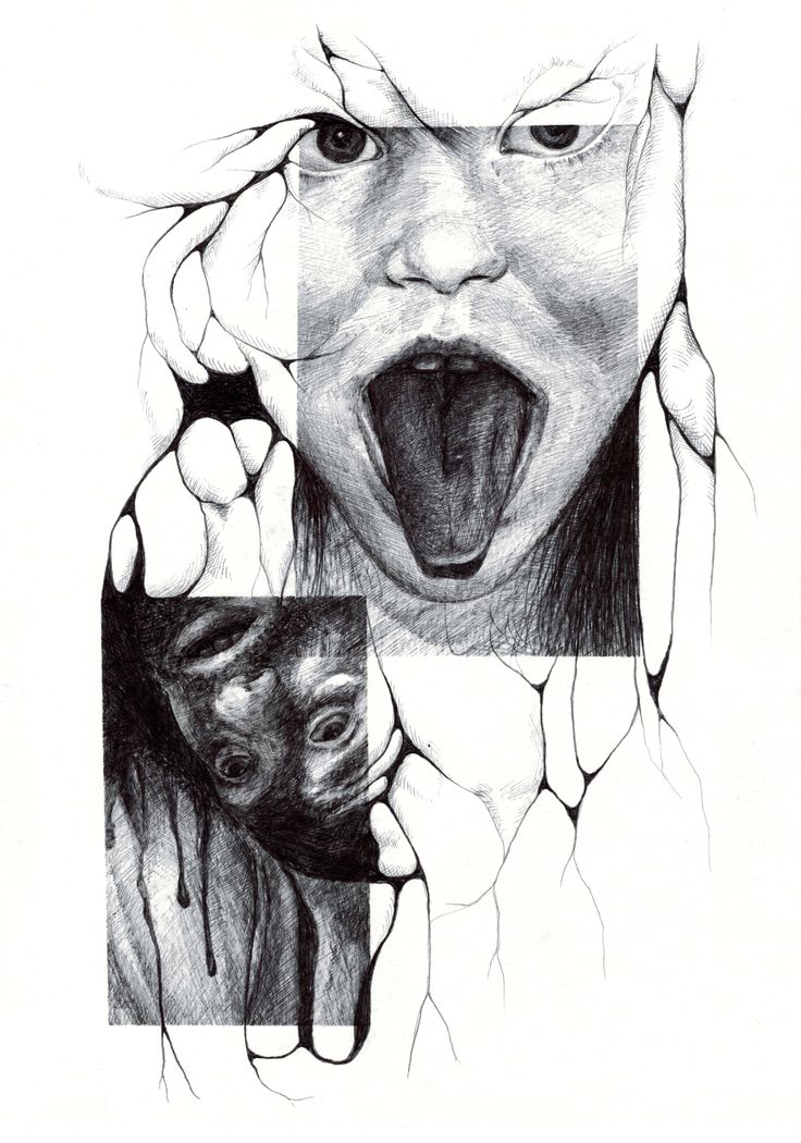 Salomé Pia, Infiltration n°3, 21x29,7 cm, crayon bic, 2014