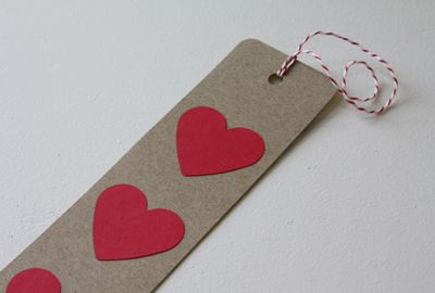 Heart bookmark, kids can write to and from on the other side!!