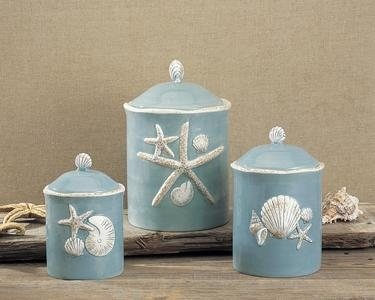 Beachy Style Canister Sets For The Kitchen