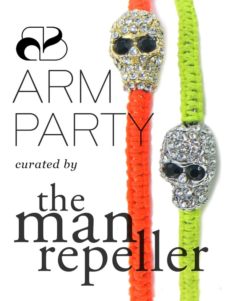 Pick up a five bracelet set (Retail Value: $75), hand-selected just for you!  Answer some questions and let us put together a personalized Arm Party, curated by the wrist-wear authority: The Man Repeller.  Pictures are representative of only a sample of bracelets - each set is unique and hand-selected for you.  Arm Parties are subject to our standard Return Policy, but you must either return or keep the entire set of items.  They are not available for exchange.