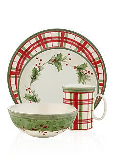 Lenox® Holiday Gatherings Dinnerware Collection - Belk.com                                         My perfect Christmas place setting!