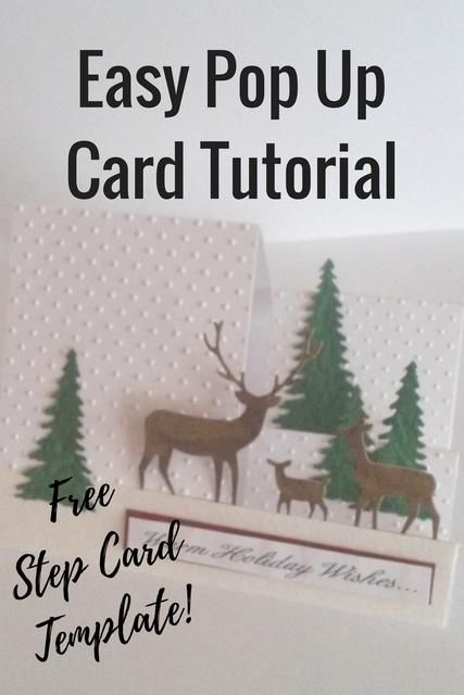 DIY Handmade Christmas Card tutorials, free templates and more!