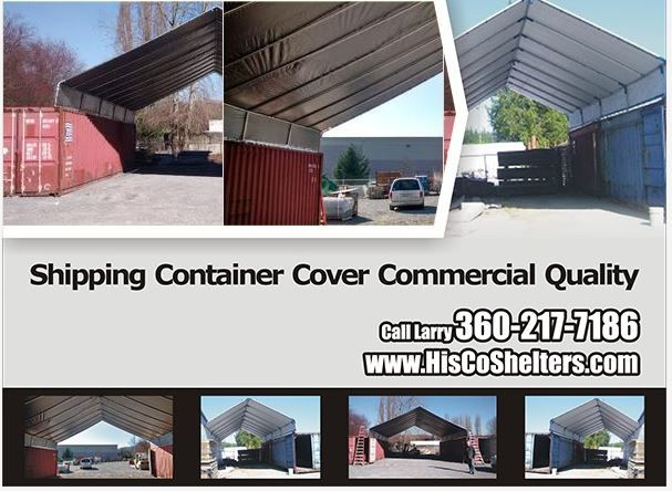 Built On Garage Shade Canopy : Hiscoshelters commercial industrial portable shelter