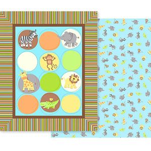 Creative Cuts Nursery Blanket Fabric Kit Zoo Animals 9 At Walmart With Free Ship To