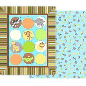 Creative Cuts Nursery Blanket Fabric Kit Zoo Animals 9
