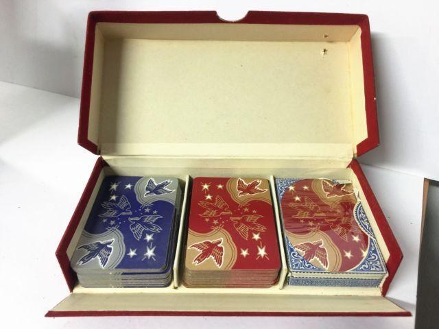 Charming Vintage Thomas De La Rue Bridge & Canasta Playing Cards in Box by PollysAntiques on Etsy