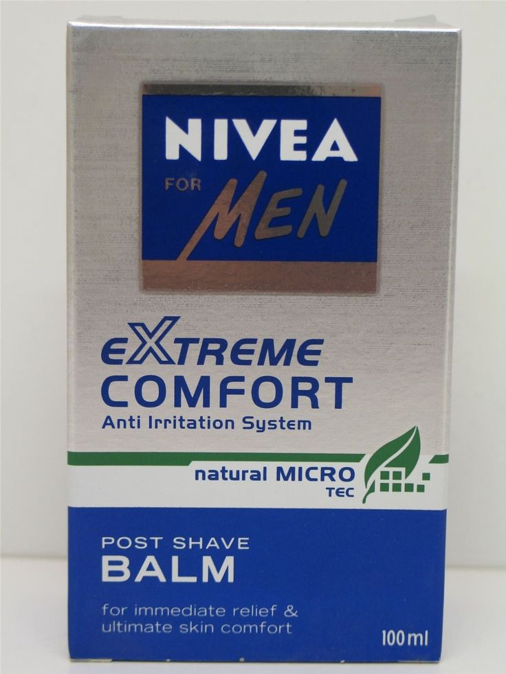 2 X NIVEA FOR MEN EXTREME COMFORT POST SHAVE BALM. 2 X 100ml. ANTI IRRITATION SYSTEM. FOR IMMEDIATE RELIEF & ULTIMATE SKIN COMFORT. For more go to http://www.philipsnorelcomultigroom.com/product/2-x-nivea-men-extreme-comfort-post-shave-balm-anti-irritation/