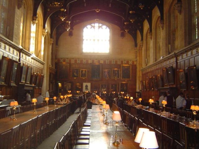 Dining Hall of Christ Church, Oxford University, England (used in the Harry Potter films).