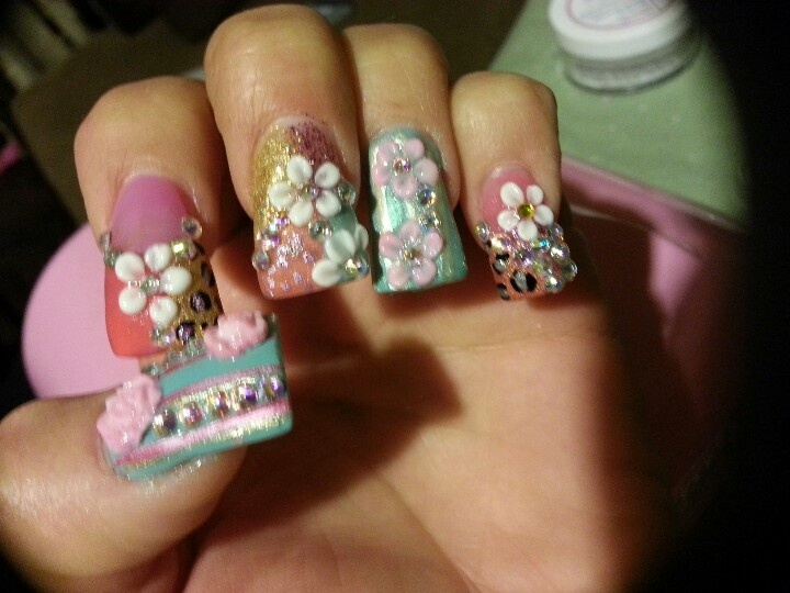 3d Nails flowers & roses