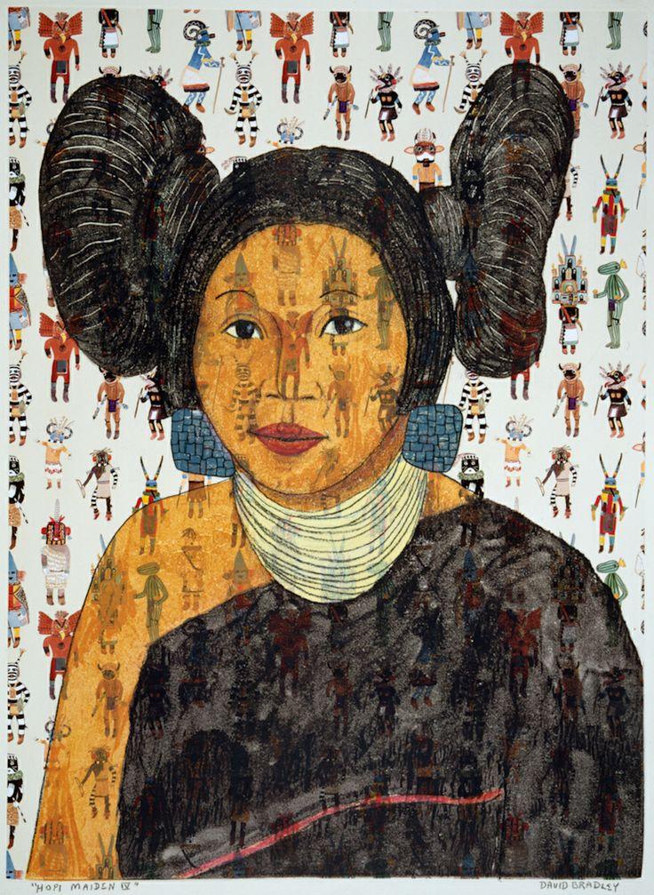 David bradley white earth ojibwe birth hopi maiden iv about 2000 ink on paper new mexico united states kk