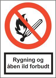 Rygning og åben ild
