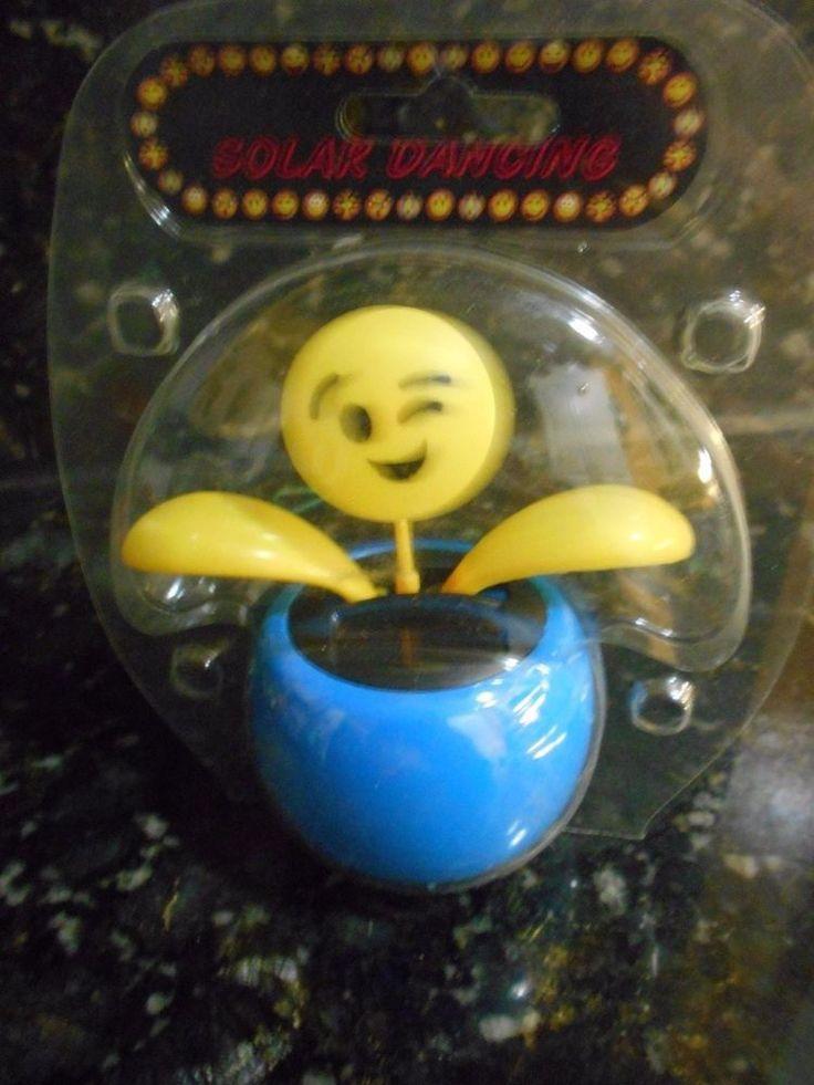 Solar Dancing Emoji Wink Figure + FREE GIFT!!