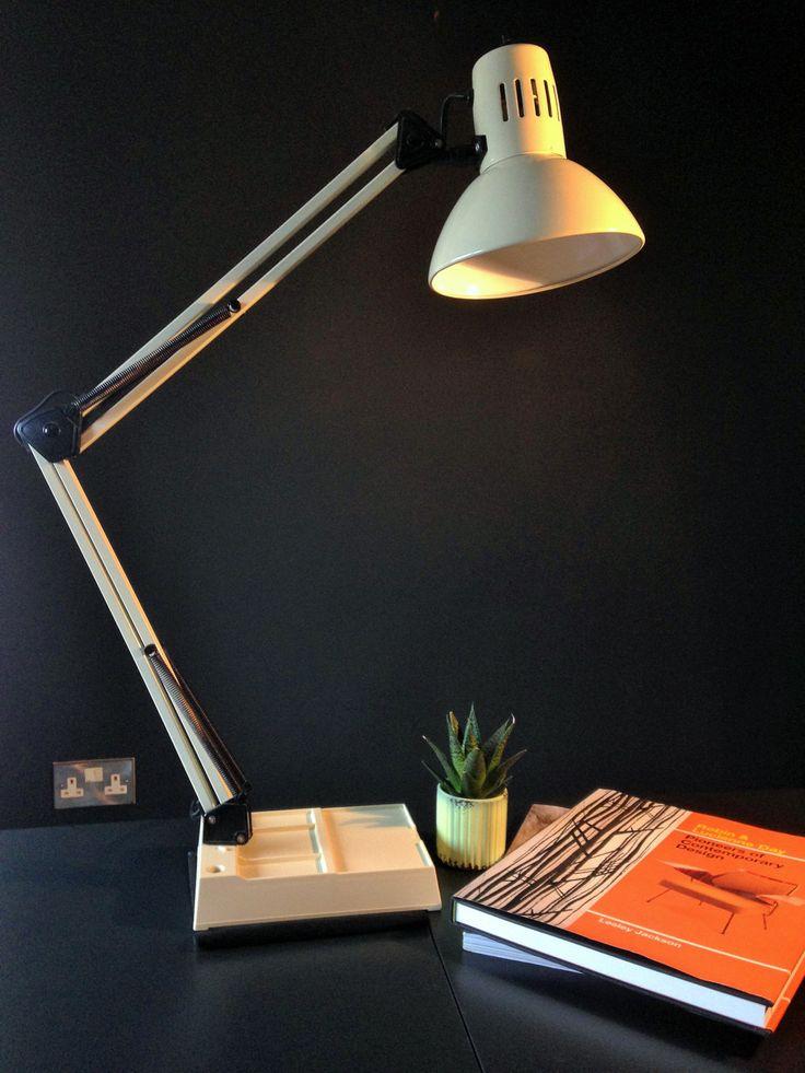 Vintage Danish Cream Anglepoise style Desk / Architects Lamp.//Vintage lamp//Desk light. by RetroTreasuresLeeds on Etsy