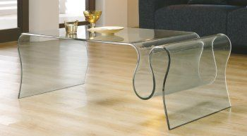 Table Basse GUM en Verre Courbé de 12 mm transparent