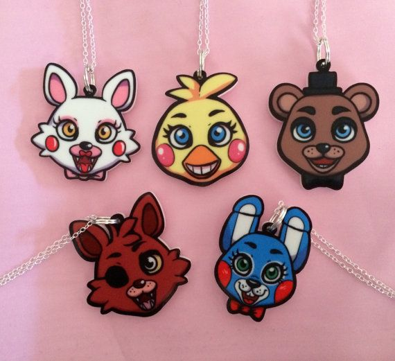 Five Nights at Freddy's FNAF Necklace Charm by RabbitFrappuccino