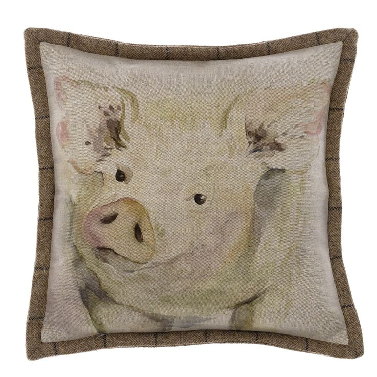 Mr Piggy Oxford Cushion