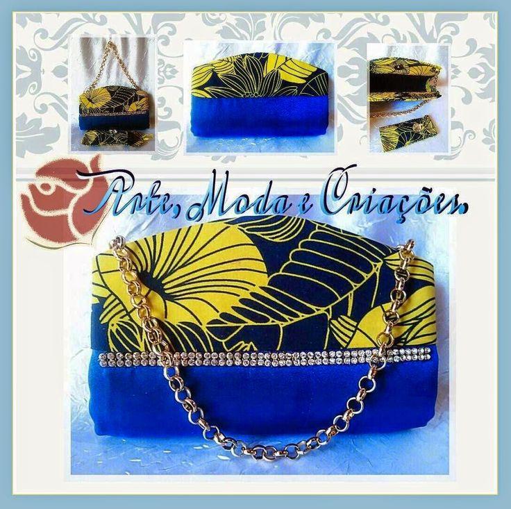 Bolsas Femininas, Havaianas Customizadas e Criações Únicas da Arte, Moda e Criações!!!: Bolsa de Festa Danyella