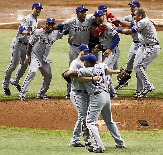 2011 ALDS Texas Rangers Win Game 4 And Ousts The Rays