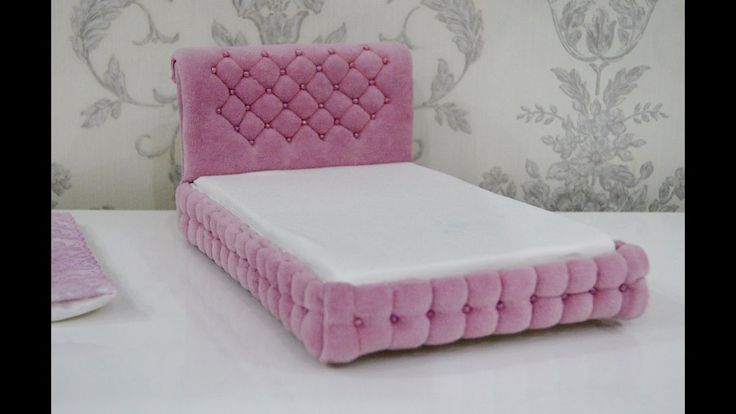 Кровать для кукол Барби, Монстер Хай и.т.д./Bed for dolls Barbie, Monste...