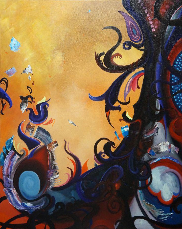 'Emerging', oil on canvas, 50 x 70cm.