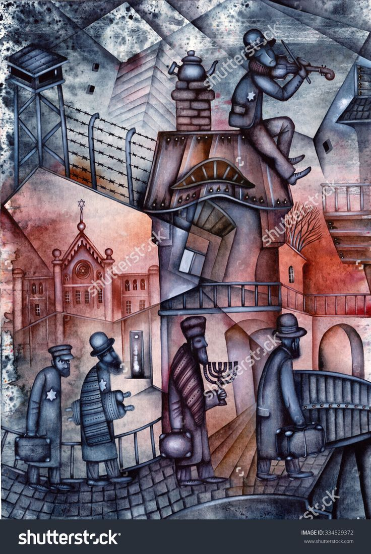 Holocaust Illustration by Eugene Ivanov. #eugeneivanov #klezmer #musician #jewish #jew #@eugene_1_ivanov