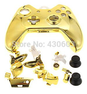 Золотой хром раковина жилищного замена чехол для средства настройки сети Xbox один контроллер золотой хром раковина
