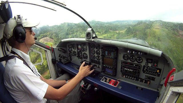 Borneo bush flying in a Pilatus PC-6 Porter by Matt Dearden. Enjoy a few minutes flying with the Pilatus PC-6 Turbo Porter from the village of Malinau into various remote jungle airstrips in Northern Kalimantan/Borneo, Indonesia.