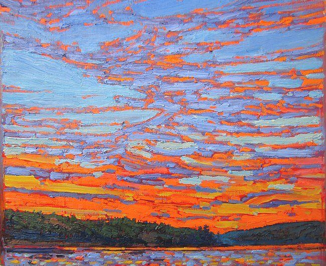1915 Sunset Clouds