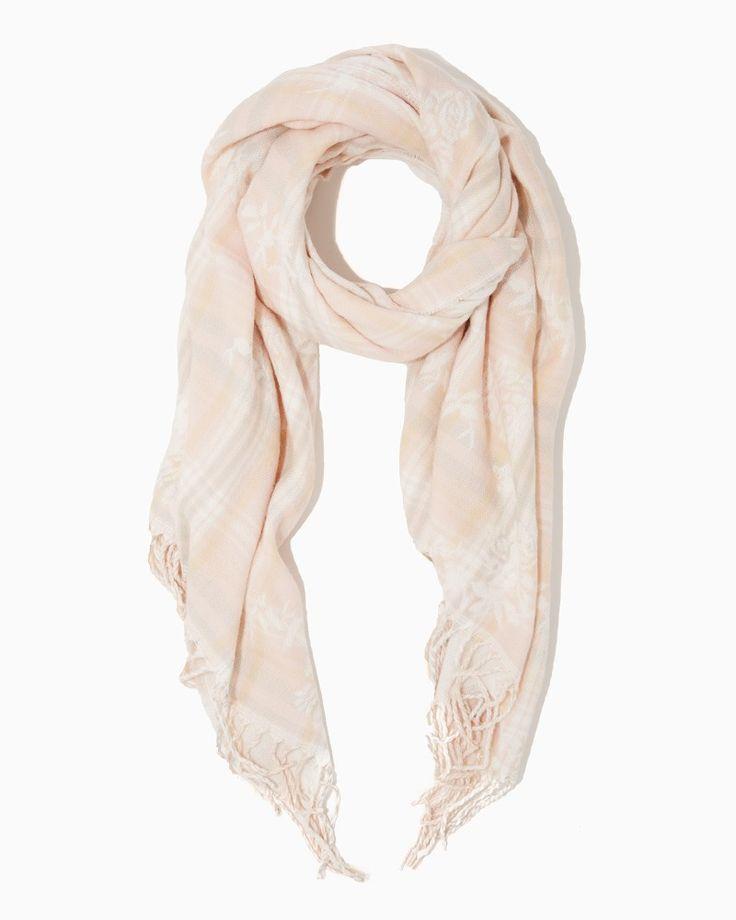 Plaid Roses Blanket Scarf | Charming Charlie