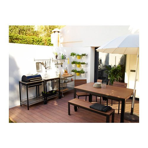 falster table outdoor black brown ikea 239 table only 100 bench seat for the home. Black Bedroom Furniture Sets. Home Design Ideas