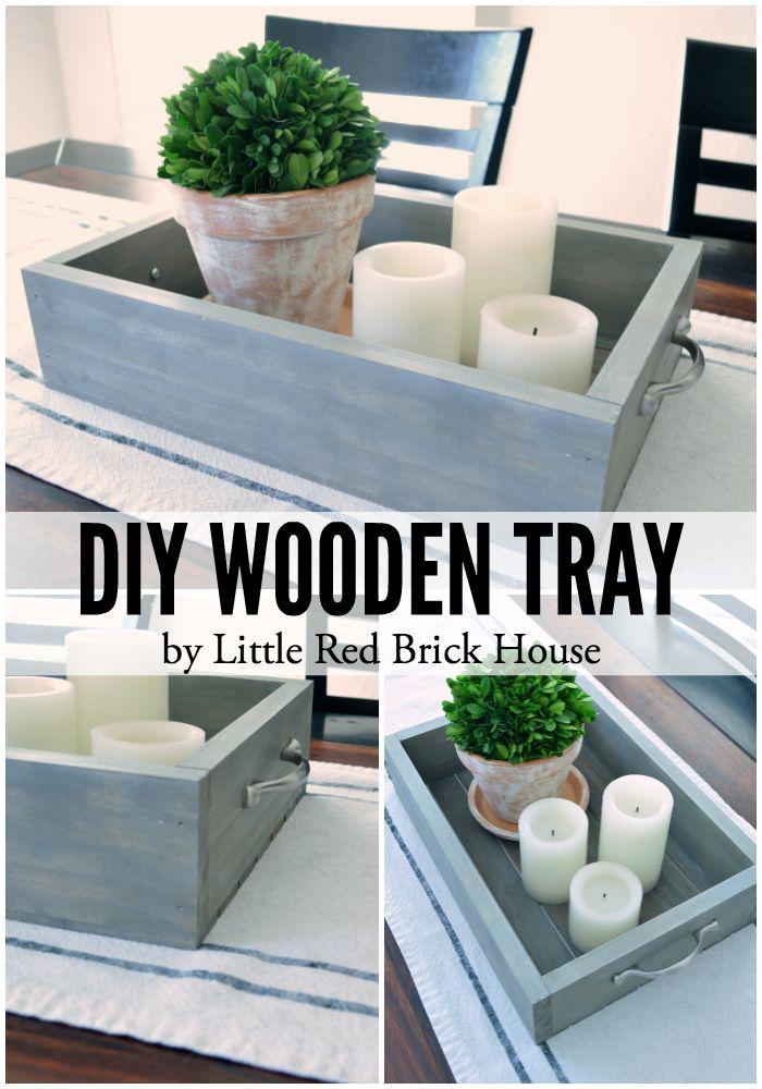DIY Wooden Tray | Bricks, Trays and House
