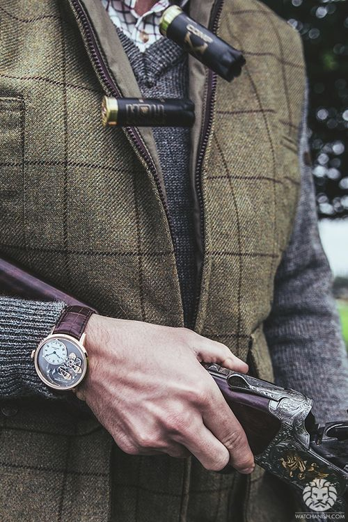 Hunting time with Arnold & Son.